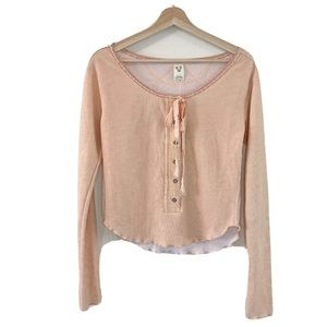 We The Free by Free People long sleeve pink top